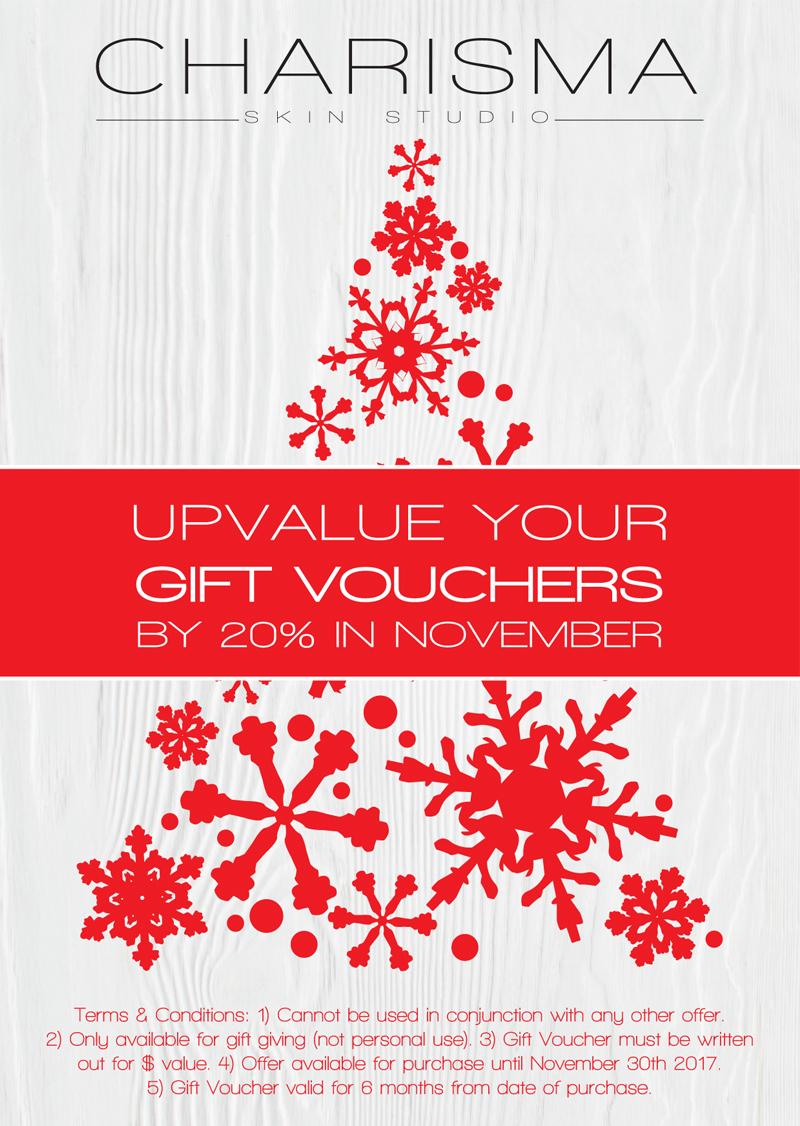 Upvalue your gift vouchers